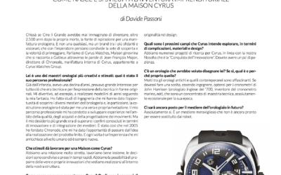 Interview magazine Galileus
